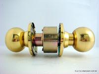 裝潢五金 品名:喇叭鎖(金色) 規格:51/60/70/85mm 型式:房間/浴室 玖品五金