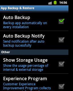 App Backup & Restore - backup automatico delle applicazioni