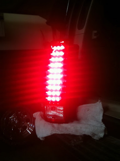 LED tail light and resistor install 8