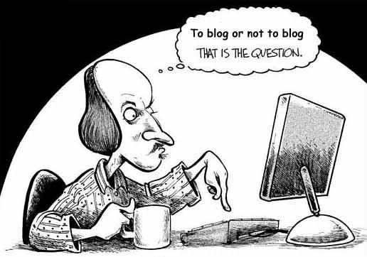 Shakespeare to blog