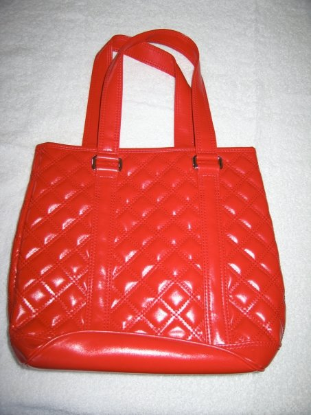 Marc Jacobs Quilted Bucket Tote Red Bag