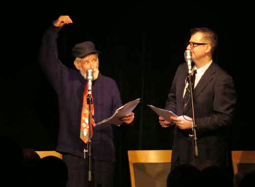 photo of Rob Queree as Spike Milligan and John Stretton as Peter Sellers in The Goon Show LIVE!