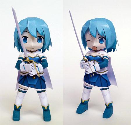 Puella Magi - Sayaka Miki Paper Model