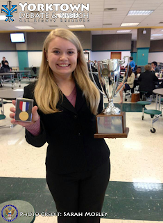 Christina Giarusso, 2012-2013 VHSL AAA Northern Region L-D Champion © Sarah Mosley & Yorktown HS Debate & Speech Team