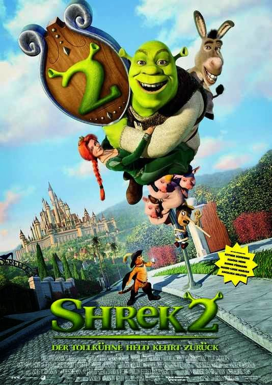 Poster Of Shrek 2 (2004) Full Movie Hindi Dubbed Free Download Watch Online At Alldownloads4u.Com