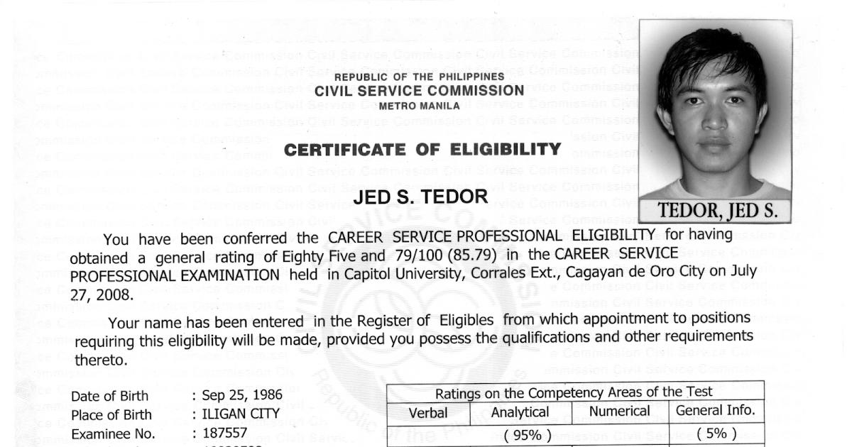 Philippines Civil Service Examination Blog: The Rating ...