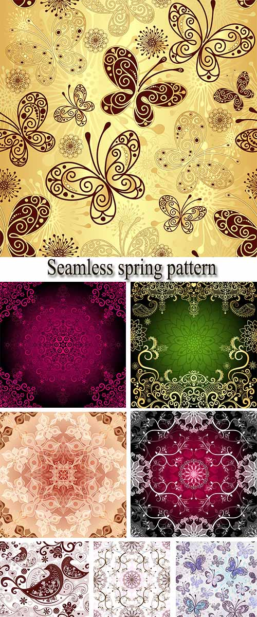 Stock: Seamless spring pattern