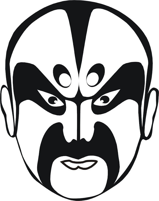 Japanese warrior mask coloring page