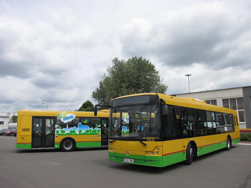 Solbus SM 12 LNG - Prezentacja pojazdów przez Gazprom Germania na terenie zajezdni MZA Warszawa