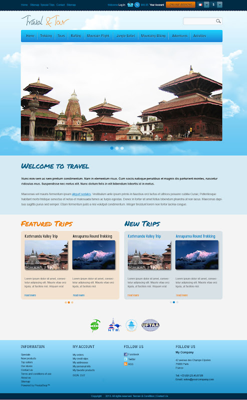 Category Page of Travel and Tour