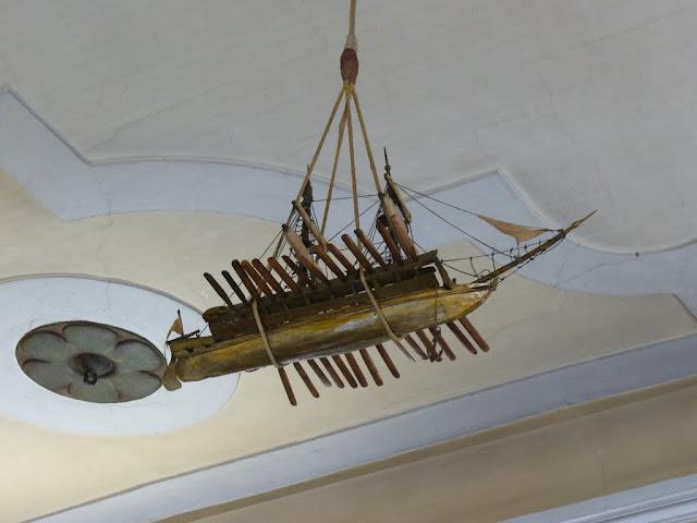 La nave di Bernardo Zaccaria (ex-voto), al soffitto della chiesa