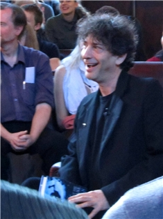 Neil Gaiman smiling