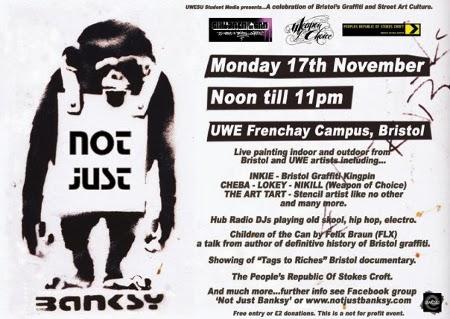 Not Just Banksy - Inkie, Cheba, Lokey, Nikill, Boswell, KTF crew, The Art Tart - 17th november 2008 @ UWE Frenchay Campus, Bristol.