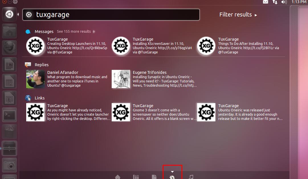 Socialize your Unity Dash with Gwibber Lens, Ubuntu Oneiric
