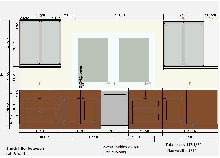 Initial small kitchen layout - your comments requested.