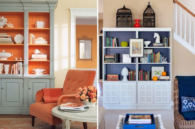 Color Pop - Update existing decor by adding pops of colour to shelves and drawers.