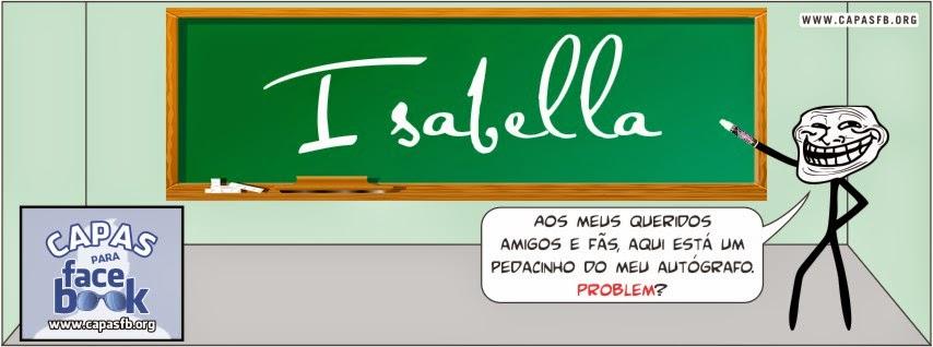 Capas para Facebook Isabella