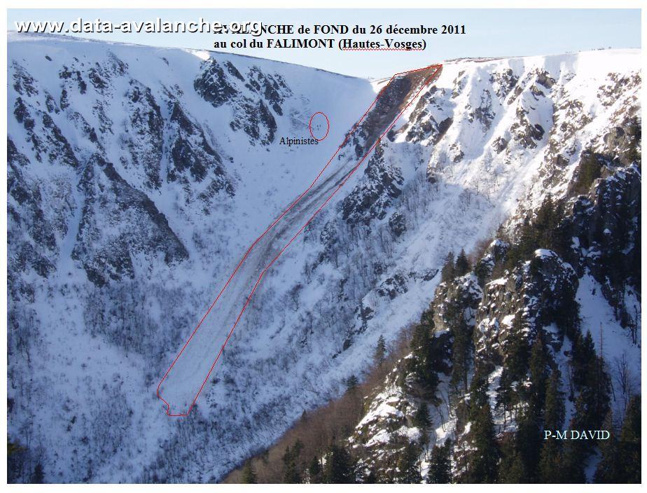 Avalanche Vosges, secteur Hohneck, Col du Falimont - Couloir du Falimont - Stosswihr - Photo 1