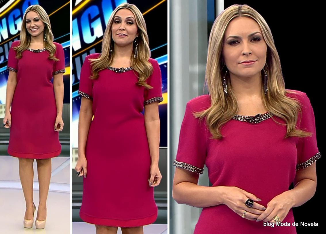 moda do programa Domingo Espetacular - look da Thalita Oliveira dia 14 de setembro