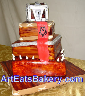 World of Warcraft wedding cake with Horde banner
