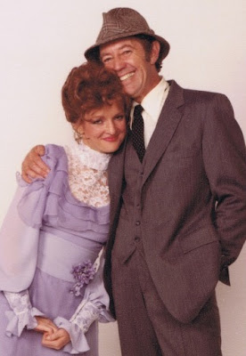 With actress Christine Ebersole in My Fair Lady - 1984
