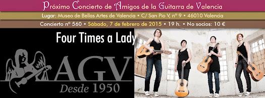 Concierto en Amigos de la Guitarra de 'Four Times a Lady'