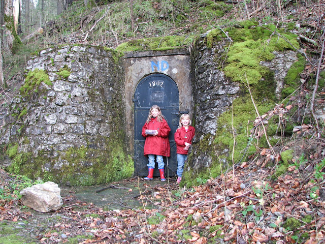 In front of a mountain spring that feeds the Vienna water system