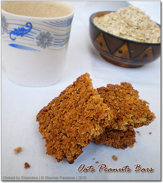 Oats Peanut Bars Recipe