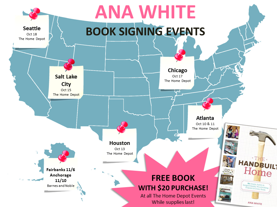 Book Tour Dates | Ana White Woodworking Projects