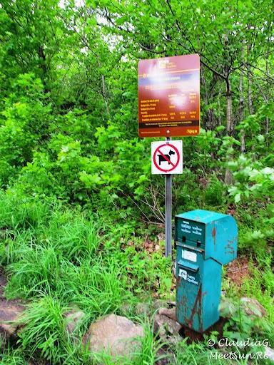Tura la munte in Canada. Mont Orford.  pe oriunde ai intra in parc nu ai scuza lipsei biletului: te taxezi singur