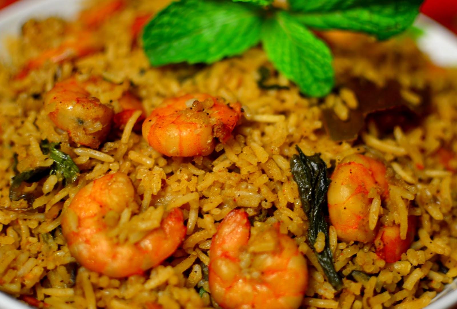 Sunitha's Kitchen: Shrimp Biryani
