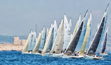 J/80s one-design sailboats- starting at Worlds in Marseilles, France