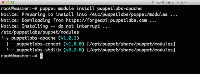 puppet module install