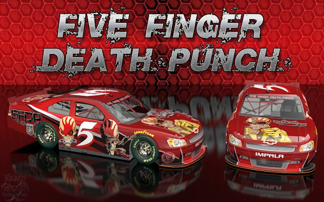 Five Finger Death Punch Wicked Chevy Impala Wallpaper
