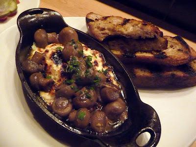 Ox restaurant dinner baked mushroom ricotta