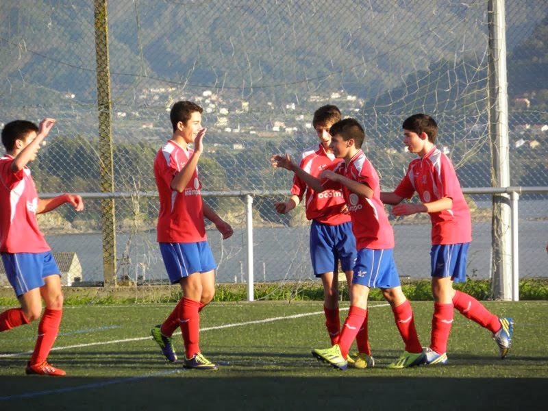 Celebración dun gol do equipo de cadetes (23/11/2013)