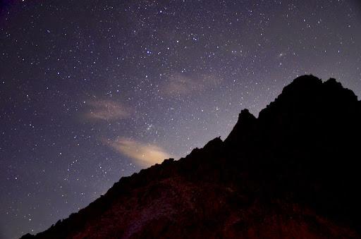 槍ヶ岳山荘の夜
