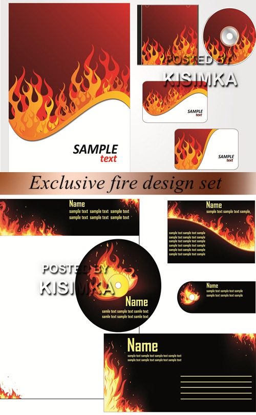 Stock: Exclusive fire design set