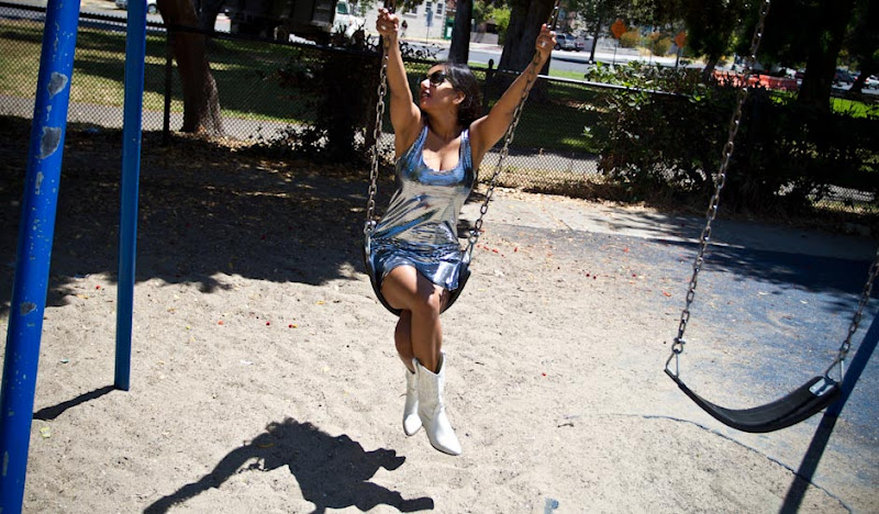 Disco Mini Dress on Swings