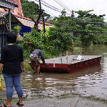 Some still need boats to get to their homes.
