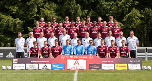 NUREMBERG, GERMANY - JULY 05: (4th row, L-R) Albert Bunjaku, Daniel Didavi, Markus Feulner, Javier Pinola...