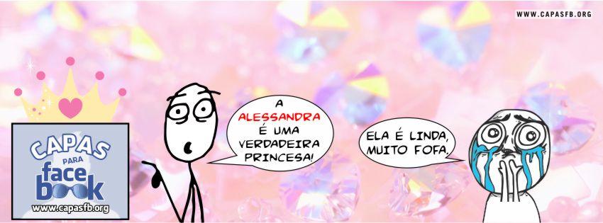 Capas para Facebook Alessandra