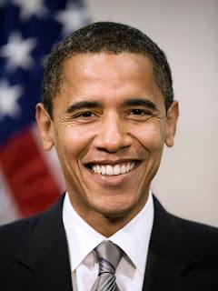 Barack Obama avec le drapeau de son pays