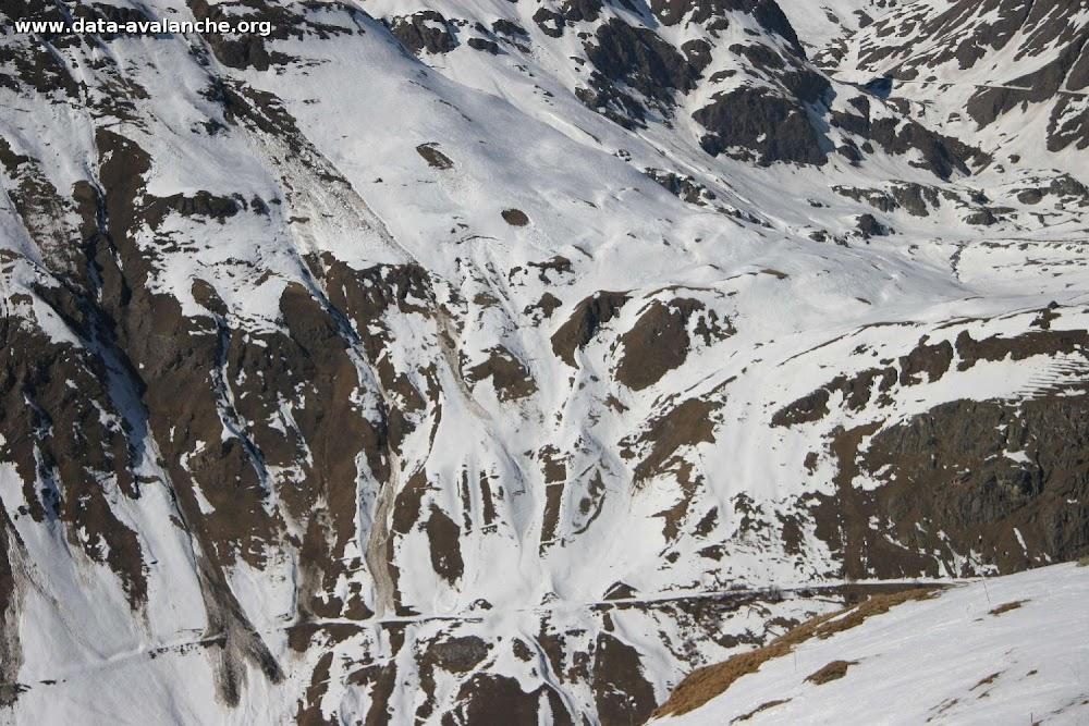 Avalanche Haute Maurienne, secteur Pointe de Méan Martin, La Met Face Sud-Est. RD 902 - Photo 1 - © Duclos Alain