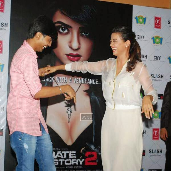 Surveen Chawla during the promotion of film Hate Story 2, in Mumbai. (Pic: Viral Bhayani)
