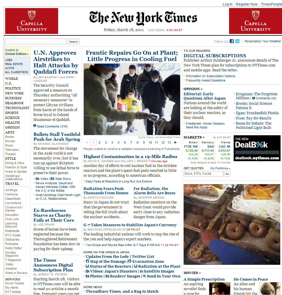 Is the New York times the best Newspaper overall in the US?