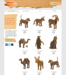 Carton Crafts Template
