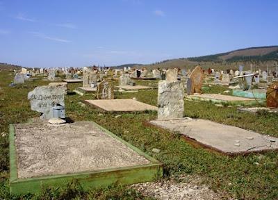Кладбище в Эрдэнэте, Монголия