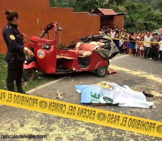 Mujeres pierden la vida en accidente de transito en San Rafel Pie de la Cuesta