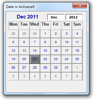Calendario 2106.Calendar Control For All Office Versions Including Office 2016
